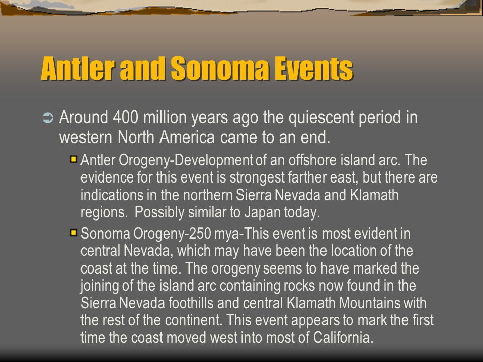 Antler and Sonoma Events