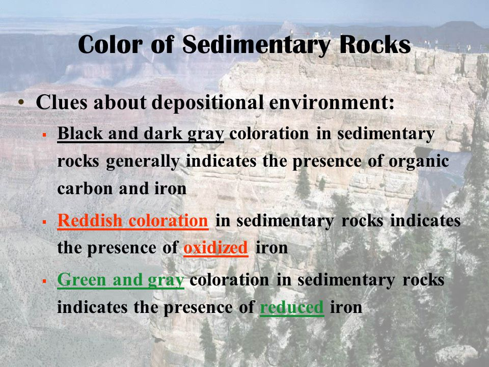 Color of Sedimentary Rocks