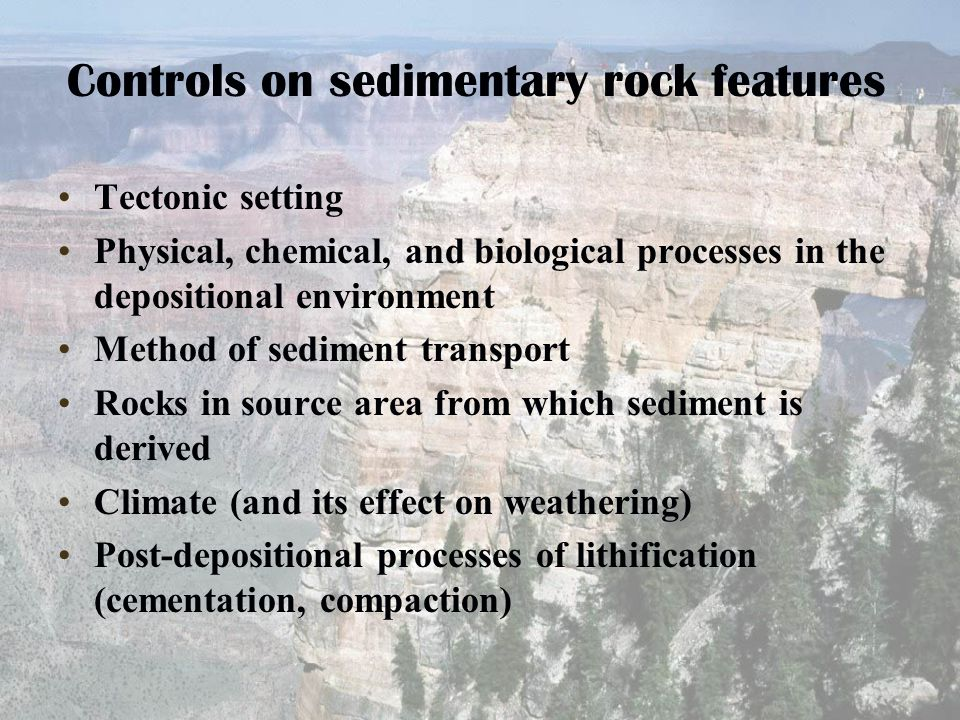 Controls on sedimentary rock features