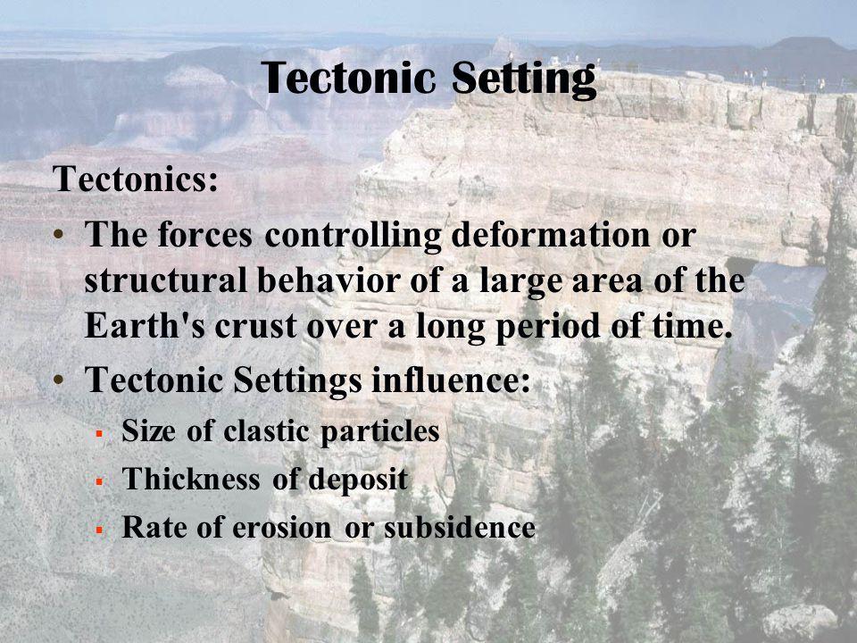Tectonic Setting Tectonics: