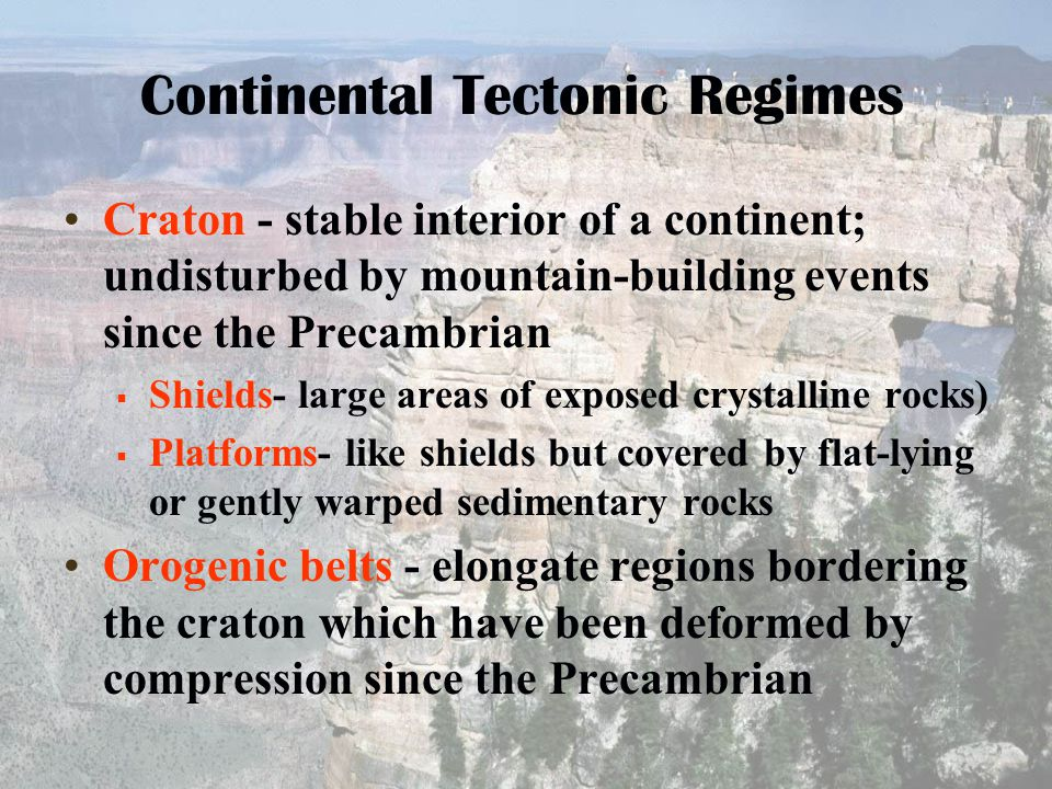 Continental Tectonic Regimes