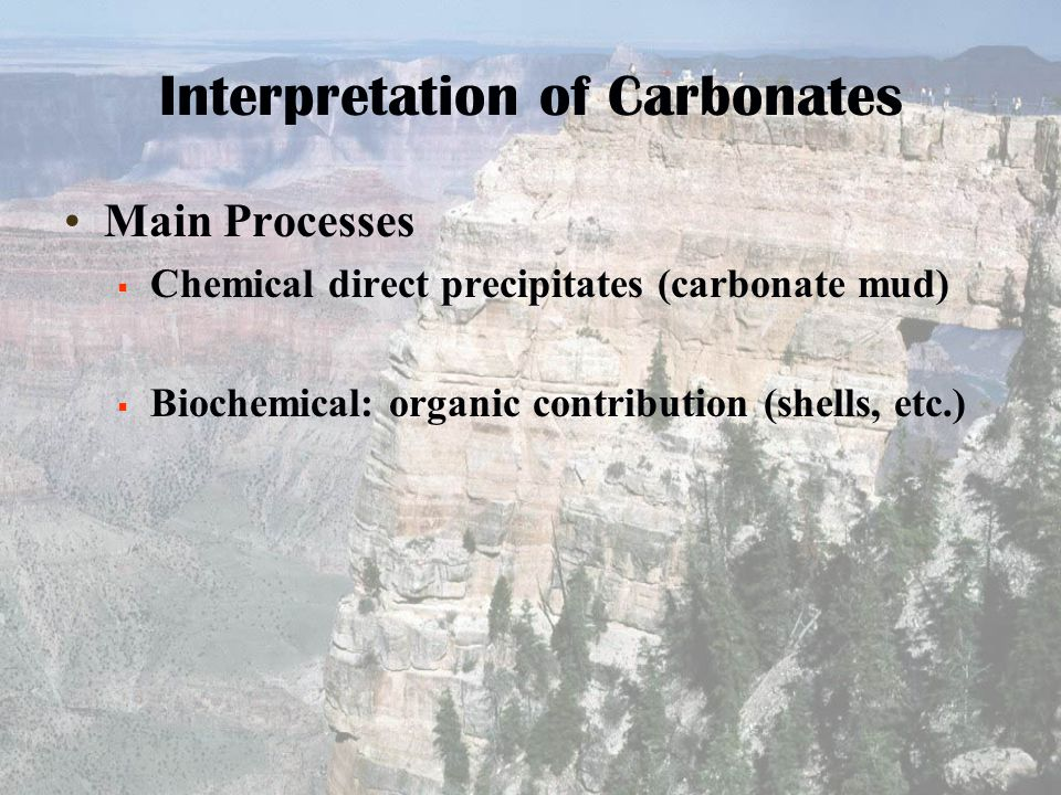 Interpretation of Carbonates