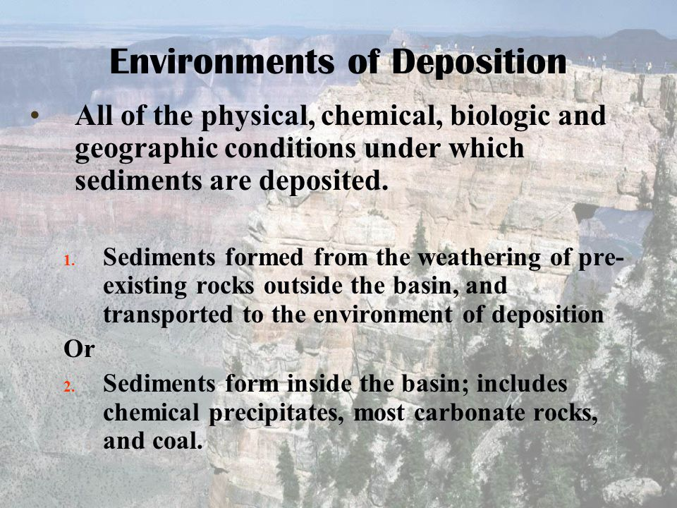 Environments of Deposition