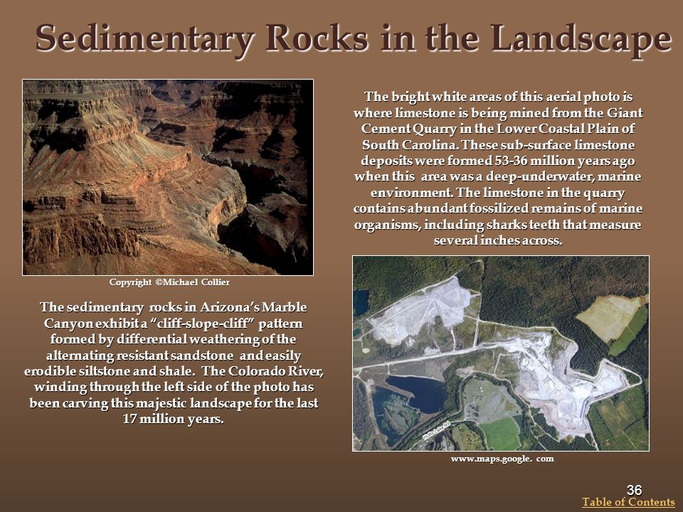 Sedimentary Rocks in the Landscape