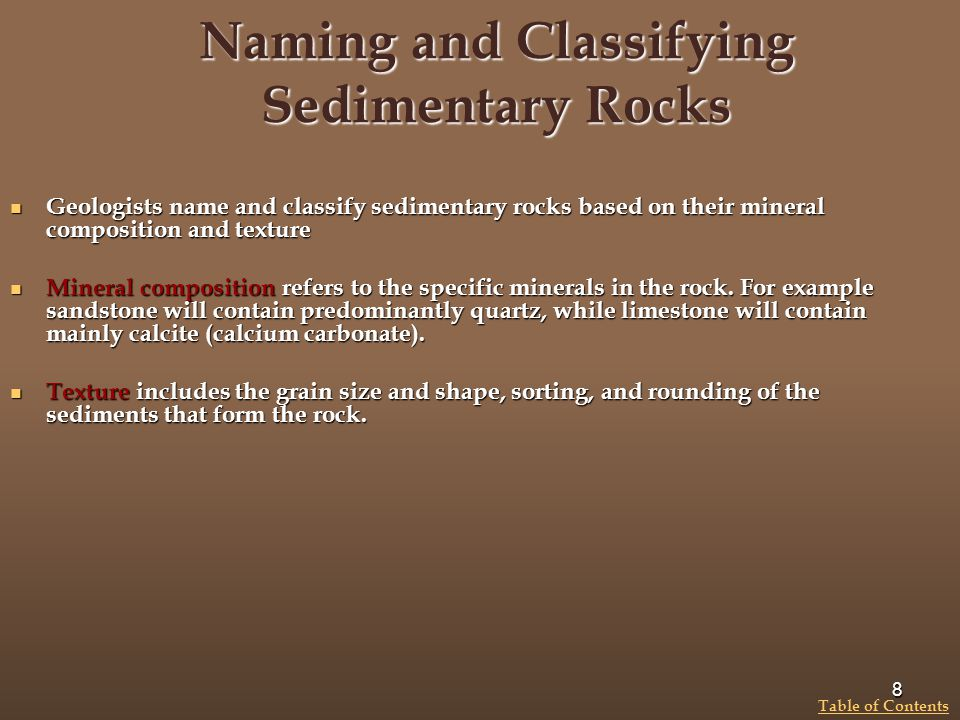 Naming and Classifying Sedimentary Rocks