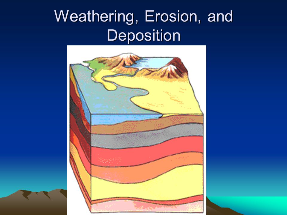 Weathering, Erosion, and Deposition