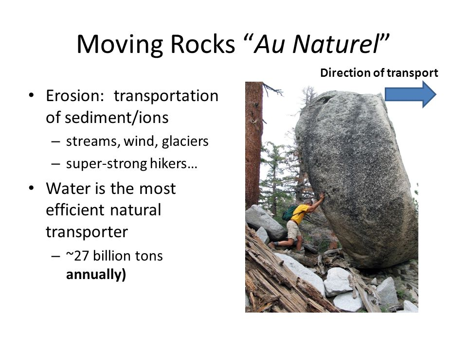 Moving Rocks Au Naturel