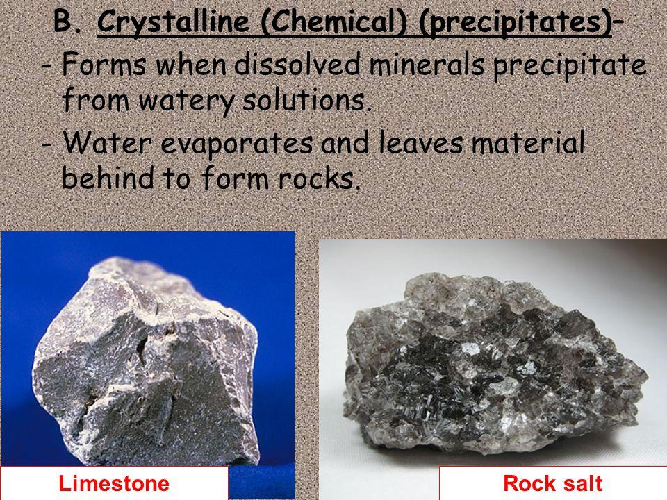 B. Crystalline (Chemical) (precipitates)–