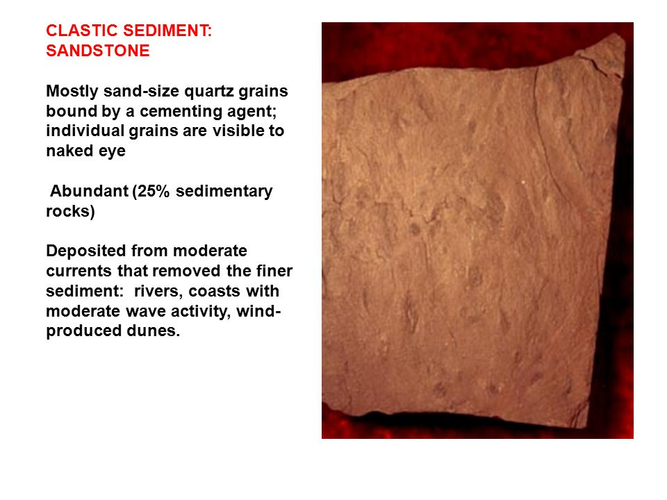 CLASTIC SEDIMENT: SANDSTONE