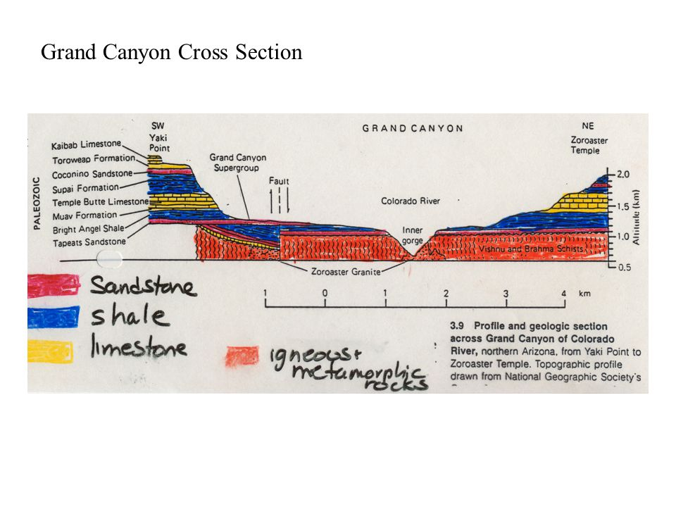 Grand Canyon Cross Section