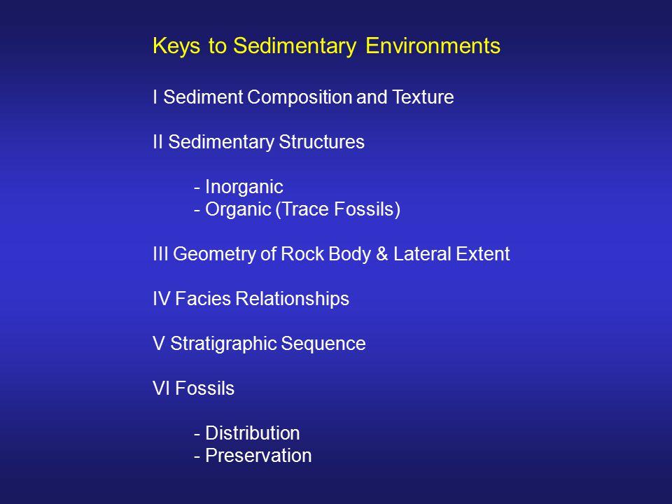 Keys to Sedimentary Environments