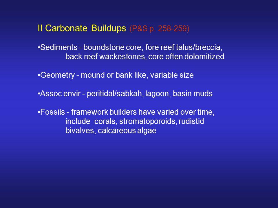II Carbonate Buildups (P&S p. 258-259)