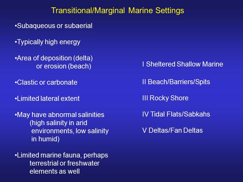 Transitional/Marginal Marine Settings