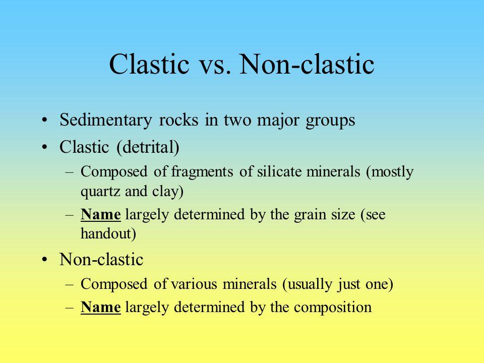 Clastic vs. Non-clastic