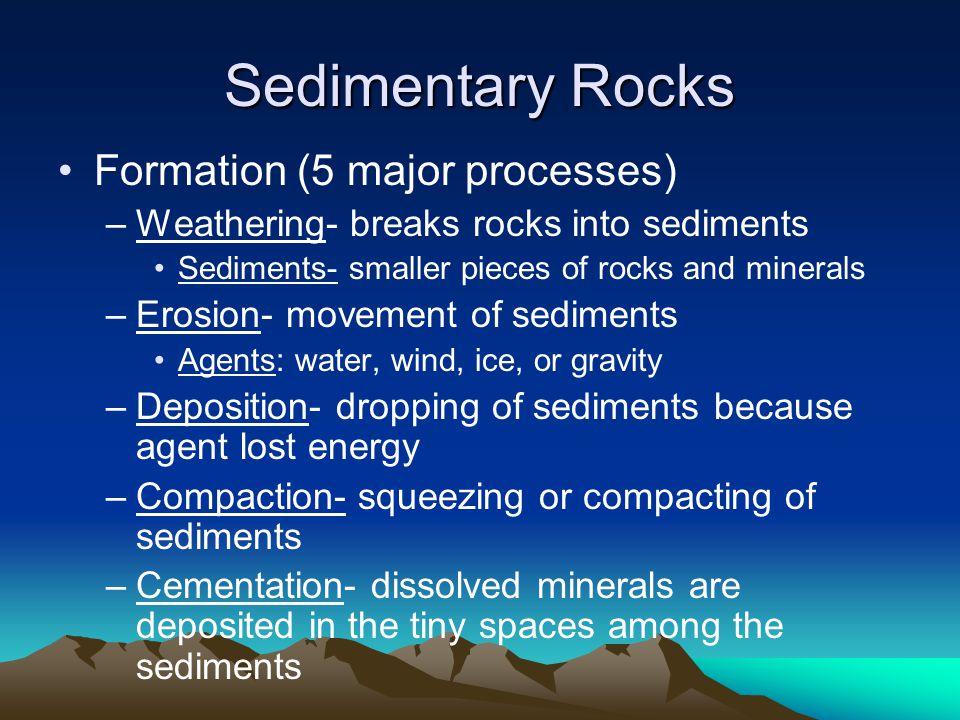 Sedimentary Rocks Formation (5 major processes)