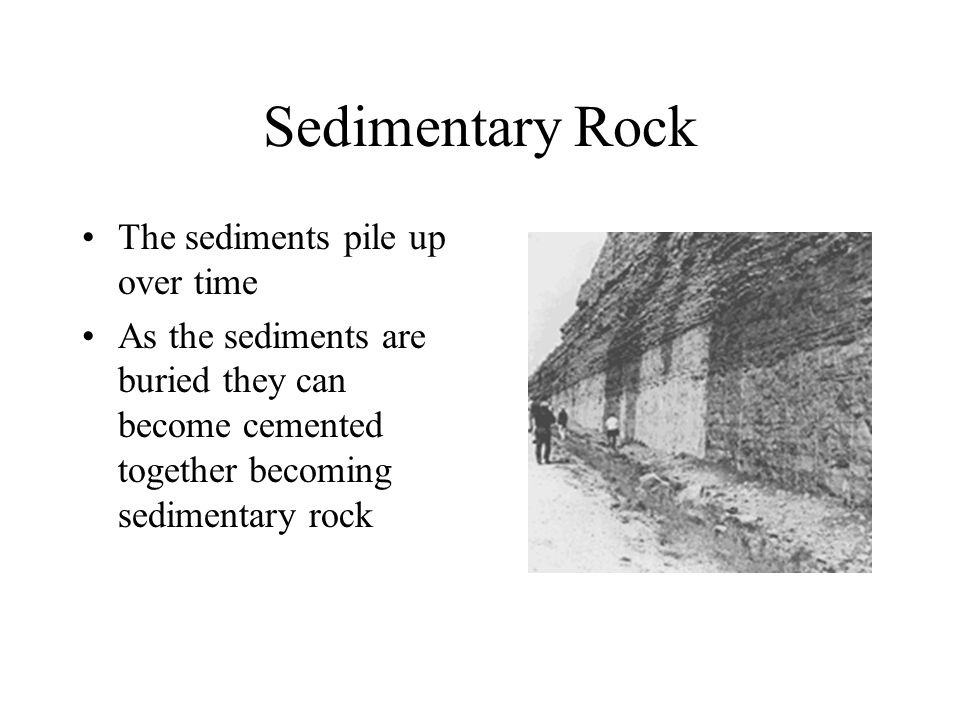 Sedimentary Rock The sediments pile up over time