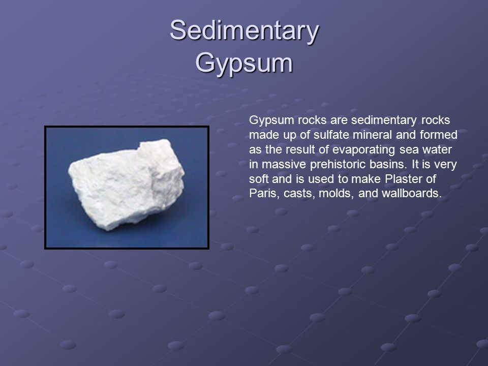 Sedimentary Gypsum