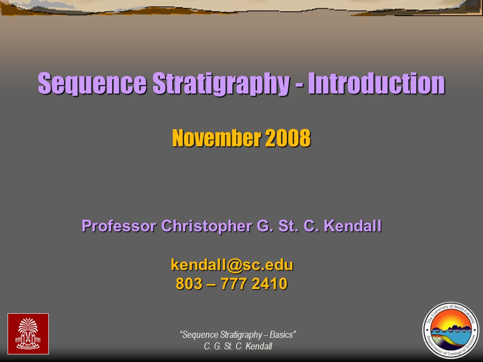 Professor Christopher G. St. C. Kendall