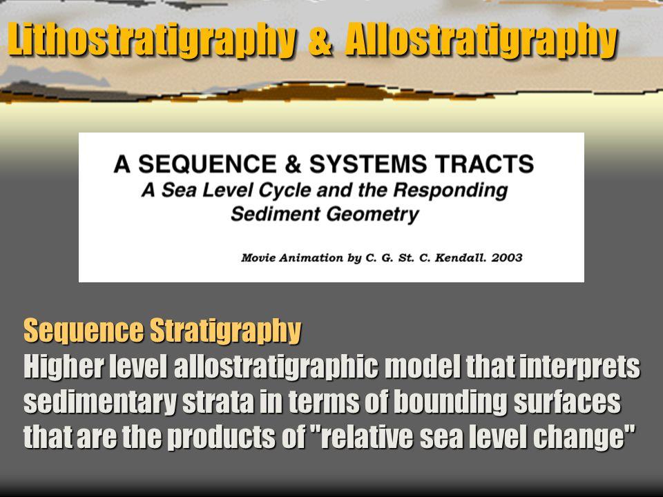 Lithostratigraphy & Allostratigraphy