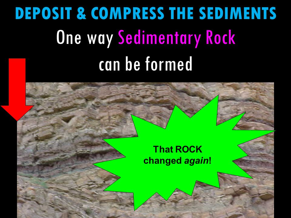 One way Sedimentary Rock can be formed