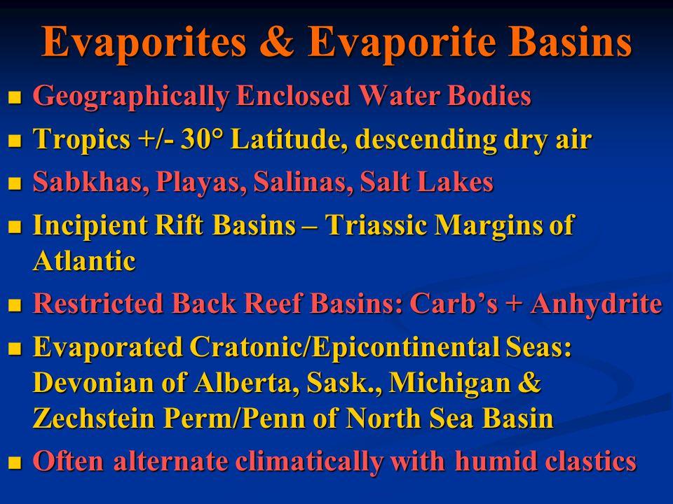 Evaporites & Evaporite Basins