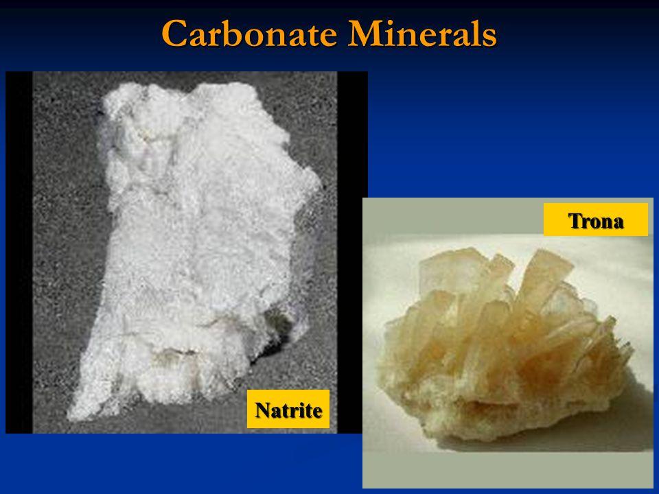 Carbonate Minerals Trona Natrite