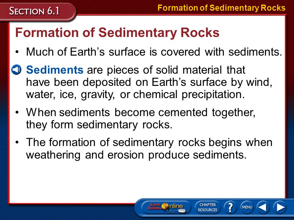 Formation of Sedimentary Rocks