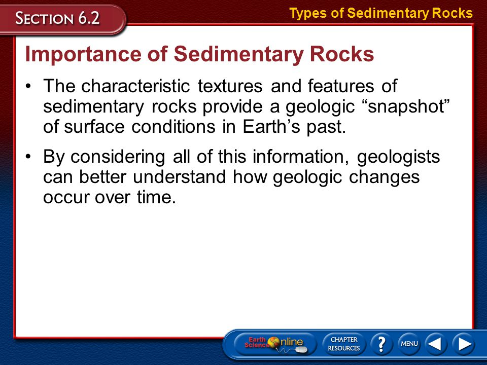 Importance of Sedimentary Rocks