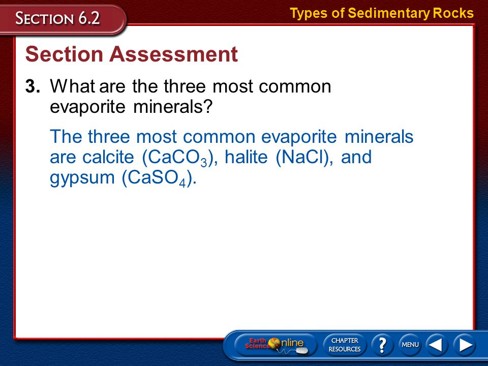 Types of Sedimentary Rocks