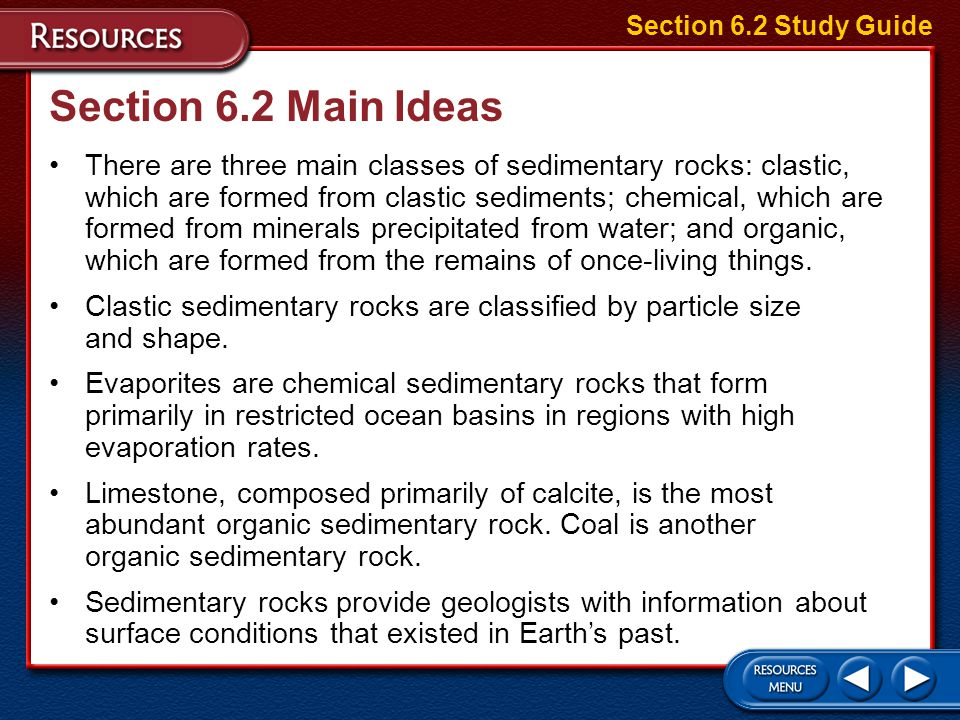 Section 6.2 Study Guide Section 6.2 Main Ideas.