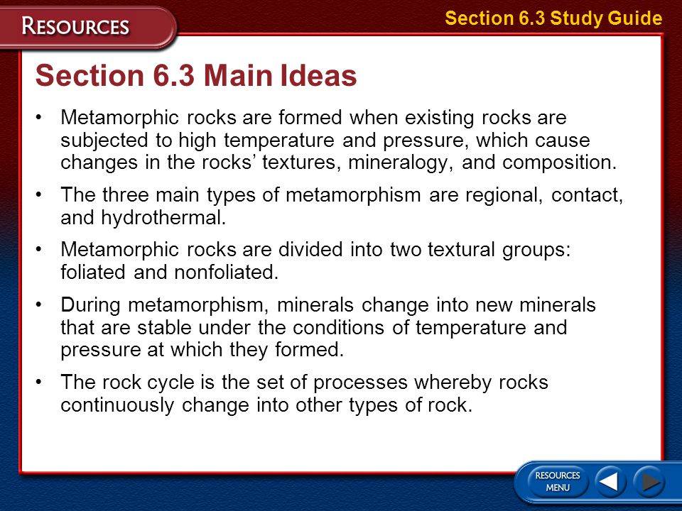 Section 6.3 Study Guide Section 6.3 Main Ideas.