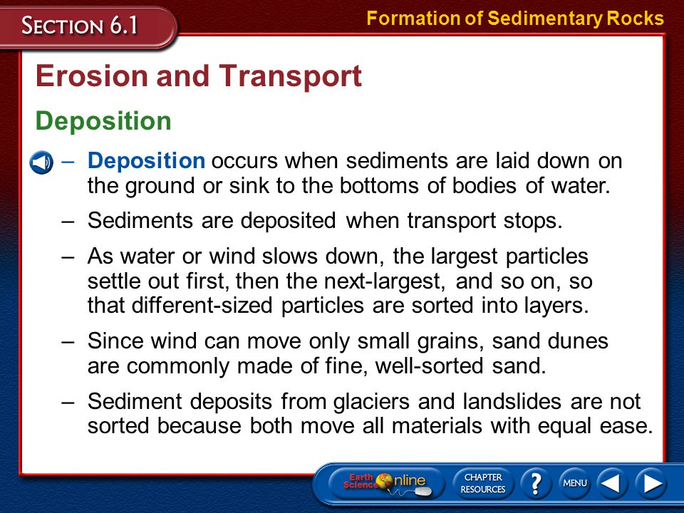 Erosion and Transport Deposition