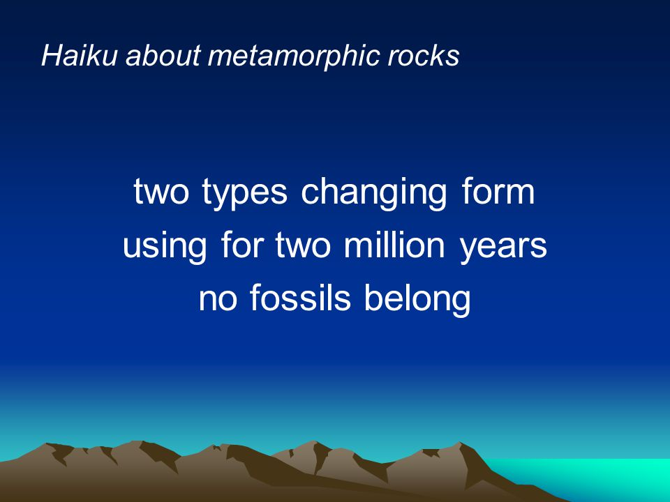 two types changing form using for two million years no fossils belong