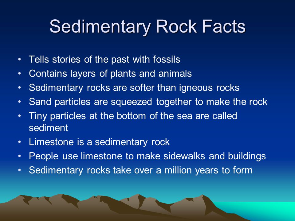 Sedimentary Rock Facts