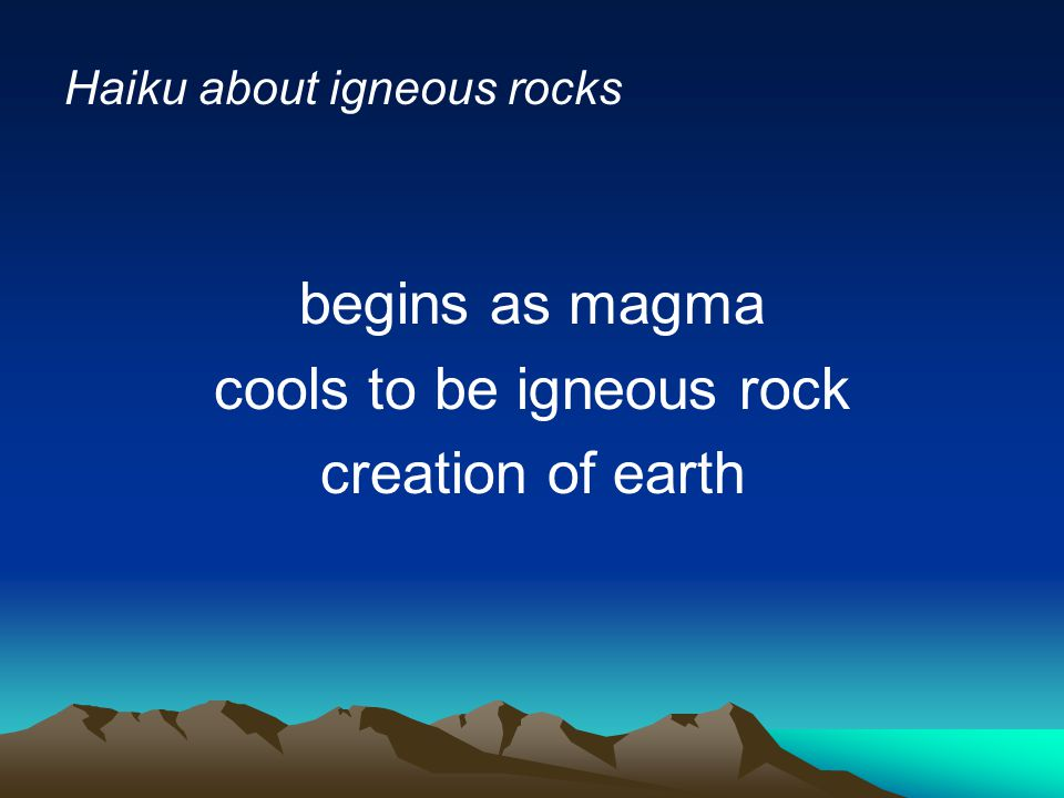 cools to be igneous rock