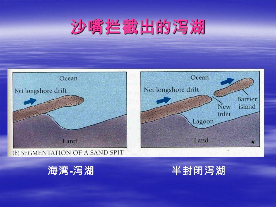 沙嘴拦截出的泻湖 海湾-泻湖 半封闭泻湖
