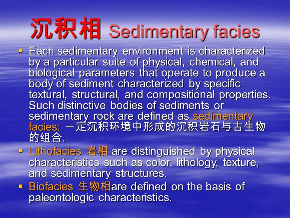 沉积相 Sedimentary facies