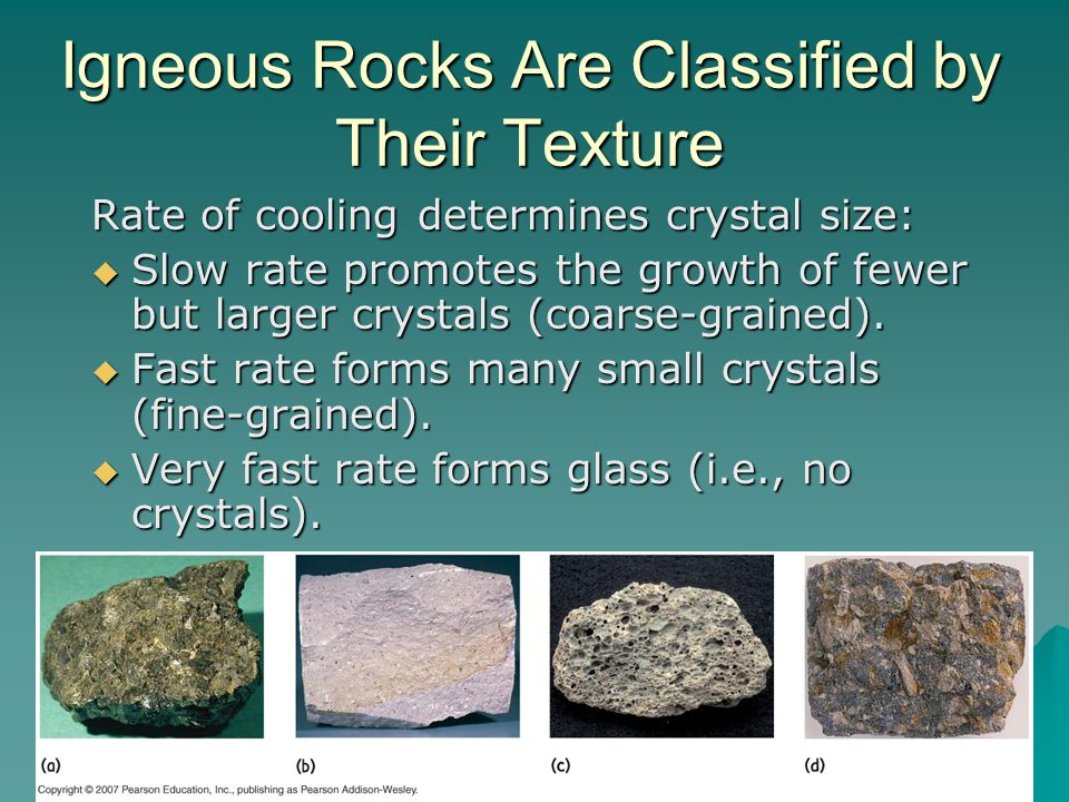 Igneous Rocks Are Classified by Their Texture