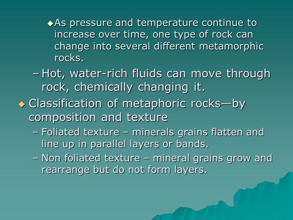 Hot, water-rich fluids can move through rock, chemically changing it.