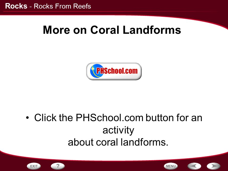 More on Coral Landforms