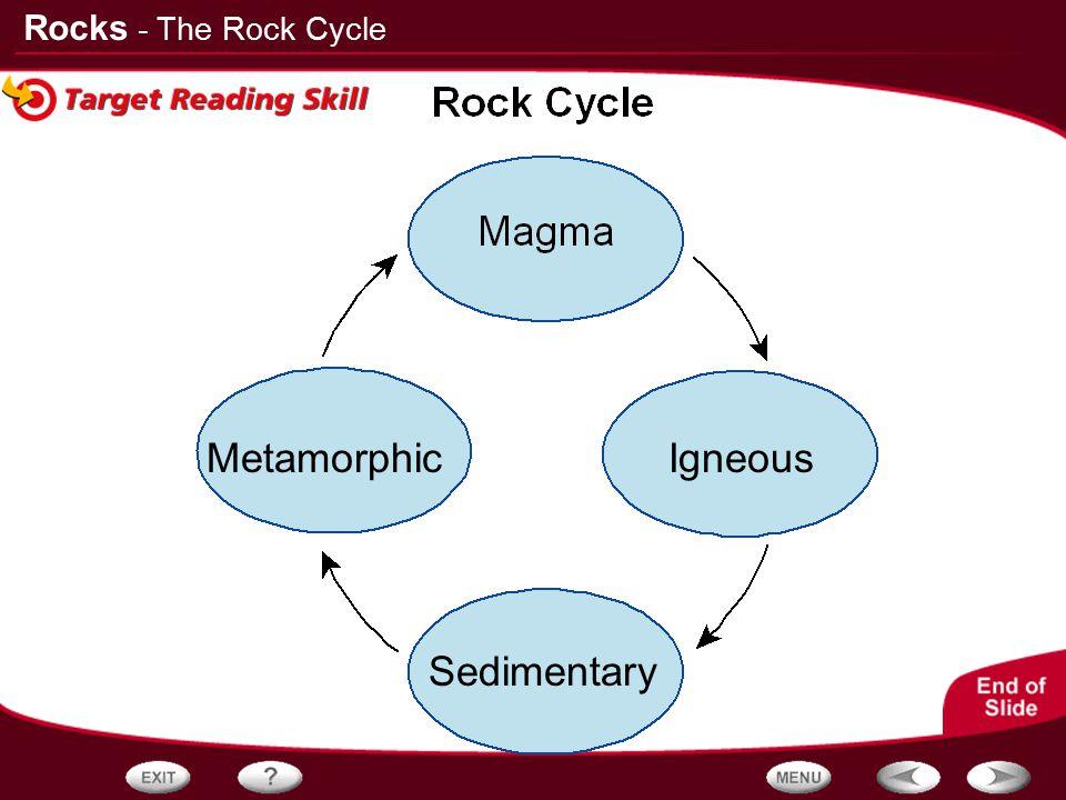 - The Rock Cycle Metamorphic Igneous Sedimentary