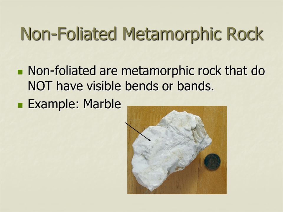 Non-Foliated Metamorphic Rock