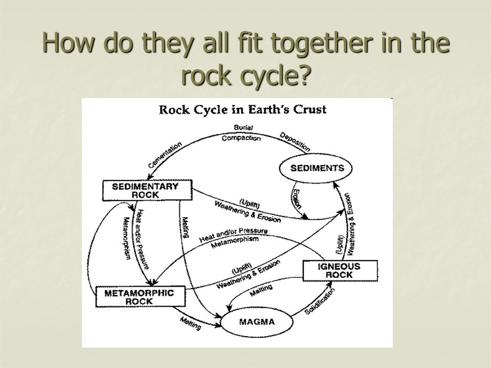 How do they all fit together in the rock cycle