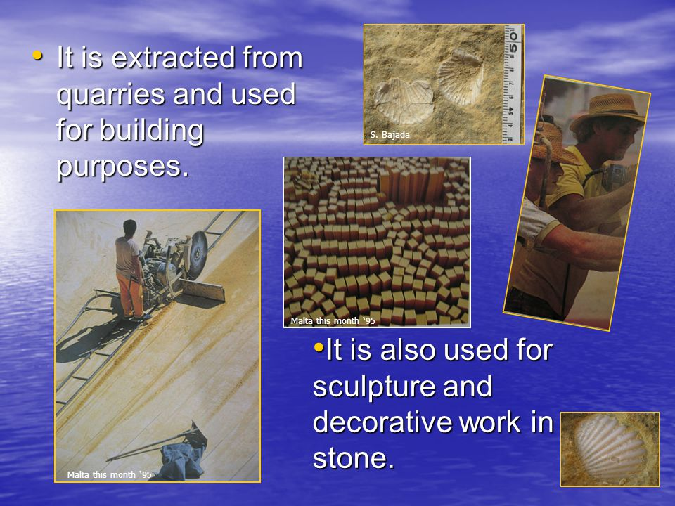 It is extracted from quarries and used for building purposes.
