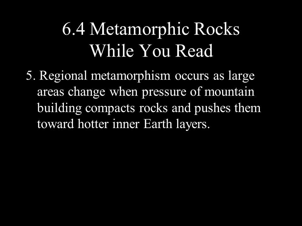 6.4 Metamorphic Rocks While You Read