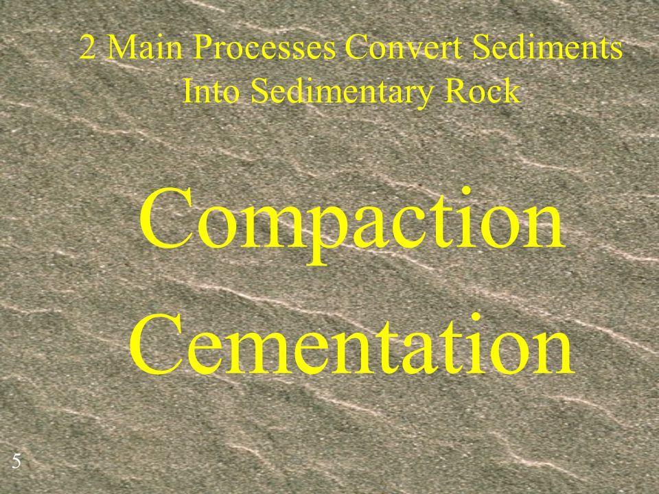 2 Main Processes Convert Sediments Into Sedimentary Rock