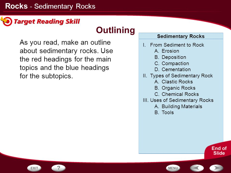 Outlining - Sedimentary Rocks