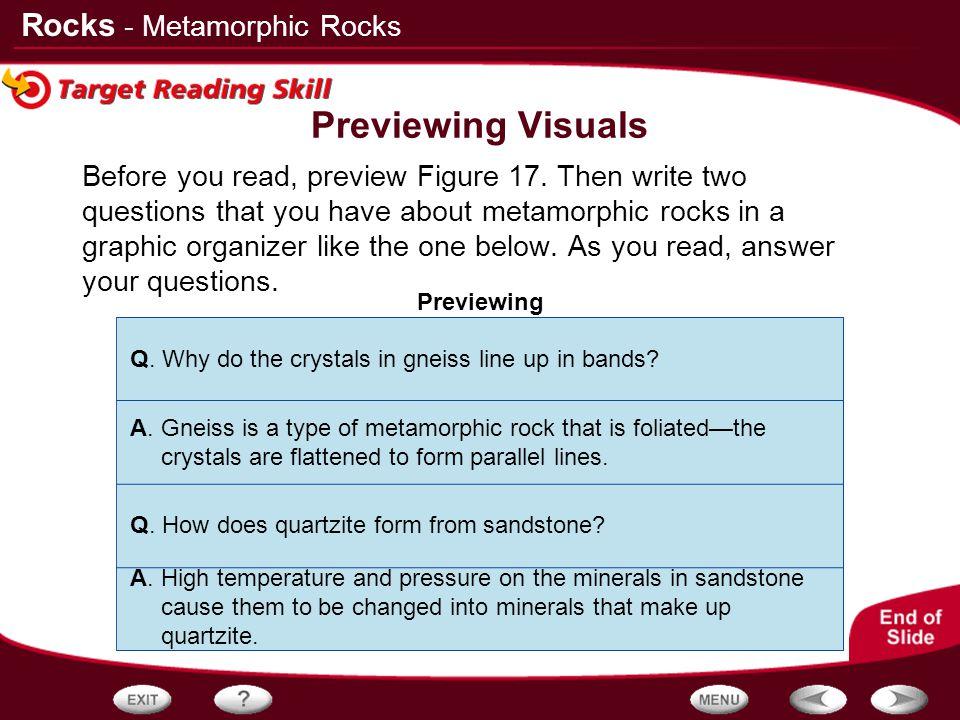 Previewing Visuals - Metamorphic Rocks