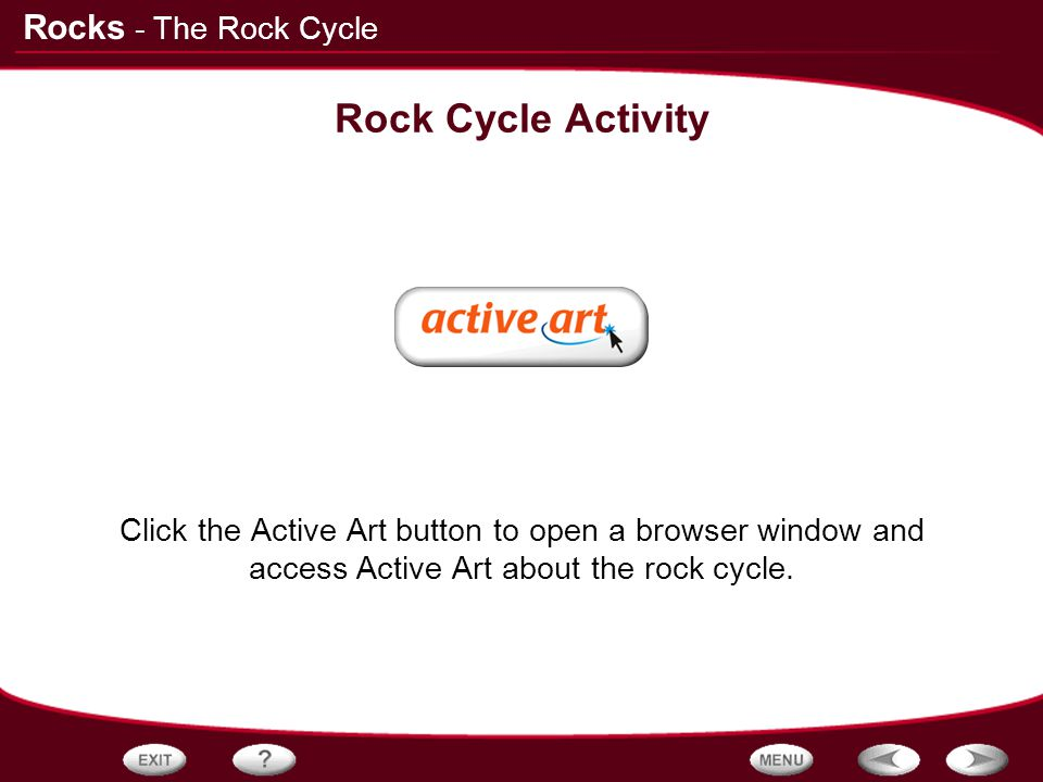 Rock Cycle Activity - The Rock Cycle