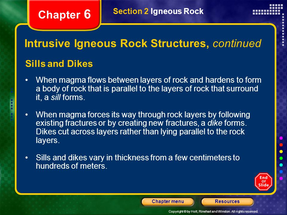 Intrusive Igneous Rock Structures, continued